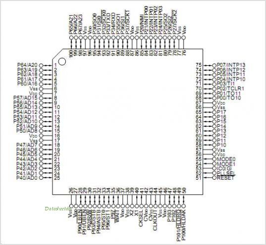 UPD70P3002 pinout,Pin out