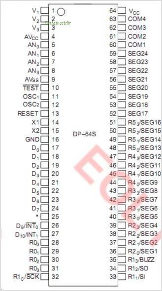 HD404326H pinout,Pin out