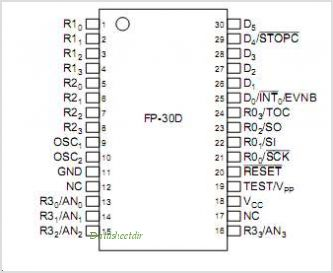 HD404344R pinout,Pin out