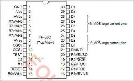 HD404374 pinout,Pin out
