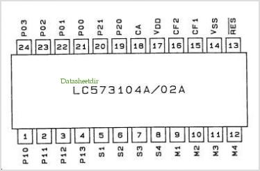 LC573010A pinout,Pin out