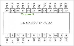 LC573102A pinout,Pin out