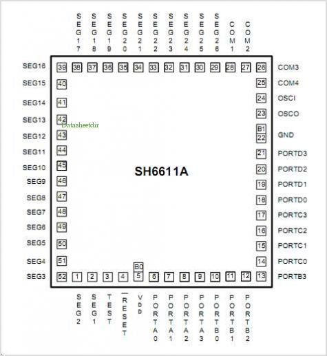 SH6611A pinout,Pin out