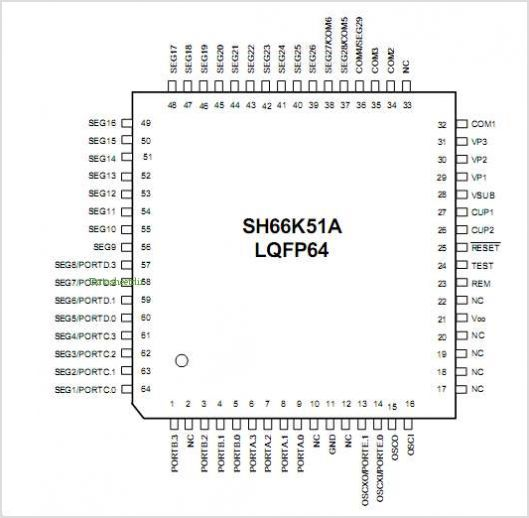 SH66K51A pinout,Pin out