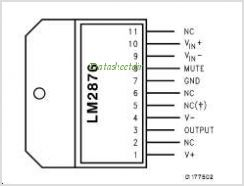 LM2876 pinout,Pin out