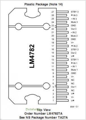 LM4782 pinout,Pin out