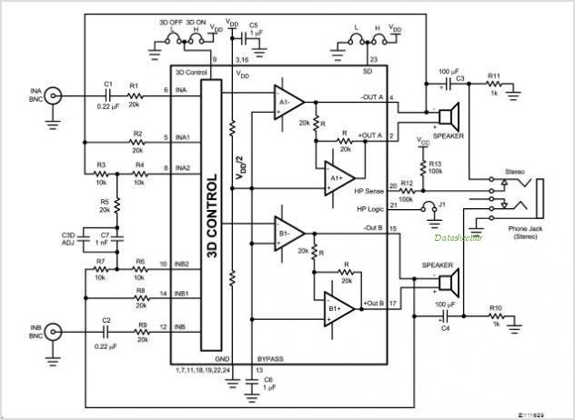 LM4888 Application circuits
