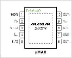 MAX9718BETB pinout,Pin out