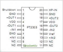 PT2303 pinout,Pin out