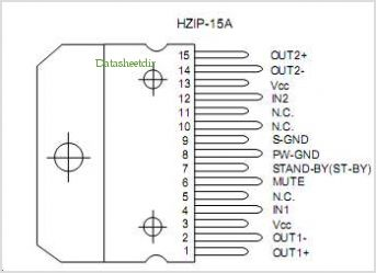 TDA7266 pinout,Pin out
