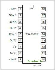 TDA1517P pinout,Pin out