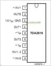 TDA2616 pinout,Pin out