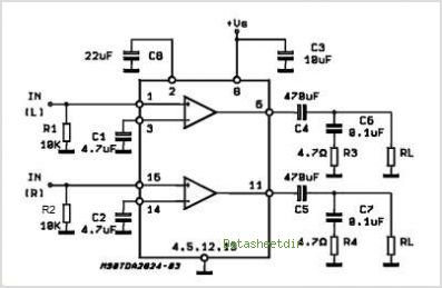 Low Power Audio Amplifier Circuit With Ic Tda2824s | #1