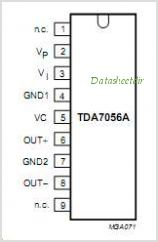 TDA7057Q pinout,Pin out