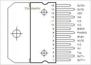 TDA7266B pinout,Pin out