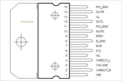 TDA7495 pinout,Pin out