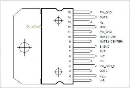 TDA7497S pinout,Pin out