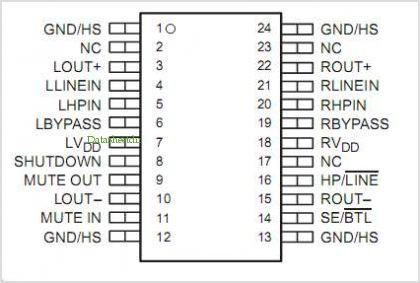 TPA0102 pinout,Pin out