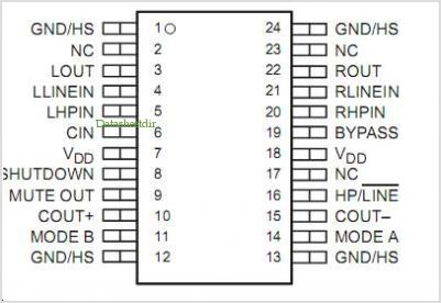 TPA0103 pinout,Pin out