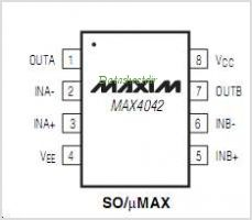 MAX4042ESA pinout,Pin out