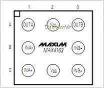MAX4163 pinout,Pin out