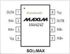 MAX4242 pinout,Pin out