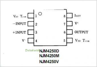 NJM4250 pinout,Pin out