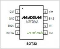 MAX9813 pinout,Pin out
