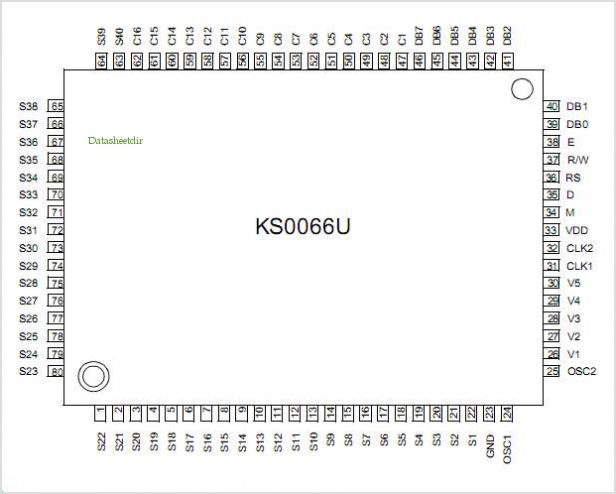 KS0066 pinout,Pin out