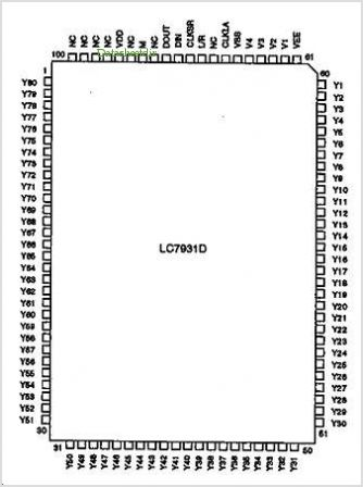 LC7931D pinout,Pin out
