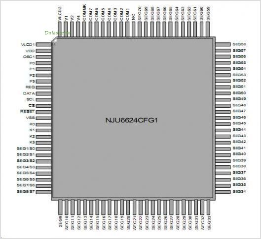 NJU6624C pinout,Pin out