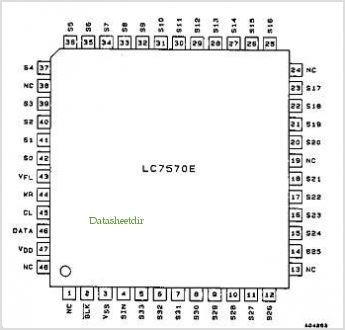 LC7570 pinout,Pin out