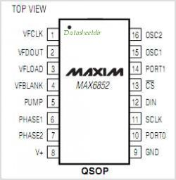 MAX6852 pinout,Pin out