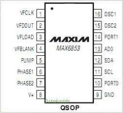 MAX6853 pinout,Pin out