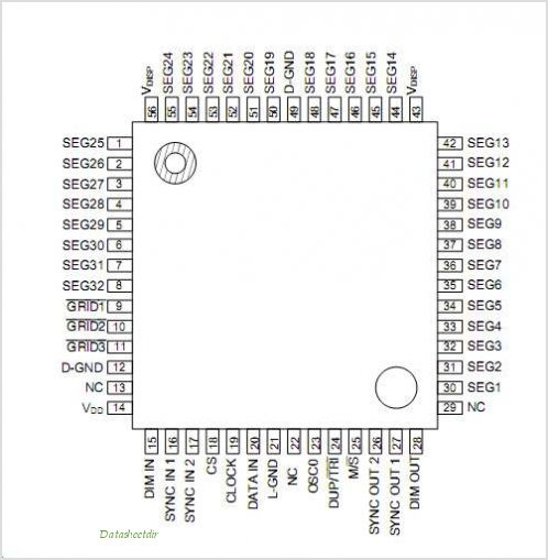 ML9212 pinout,Pin out