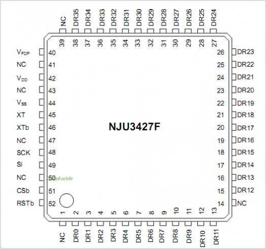 NJU3427 pinout,Pin out