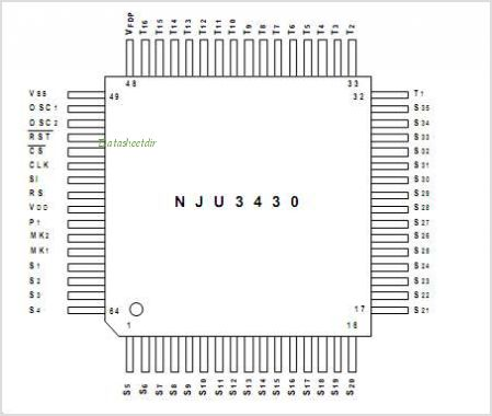 NJU3430 pinout,Pin out