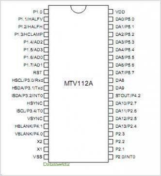 MTV112A pinout,Pin out