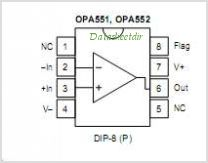 OPA551UA pinout,Pin out