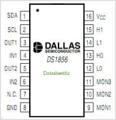 DS1856 pinout,Pin out