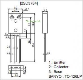 2SC3784 pinout,Pin out