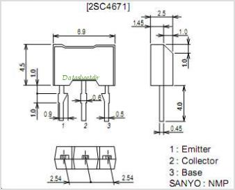2SC4671 pinout,Pin out