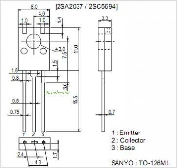 2SC5694 pinout,Pin out