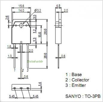 2SD1197 pinout,Pin out