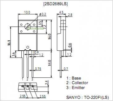 2SD2689LS pinout,Pin out