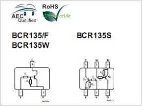 BCR135S pinout,Pin out