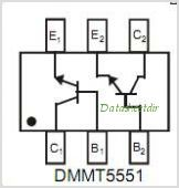 DMMT5551S pinout,Pin out