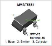 MMBT5551-NL pinout,Pin out