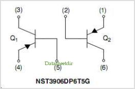 NST3906DP6 pinout,Pin out