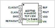 AD7740 pinout,Pin out